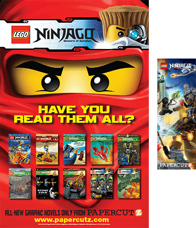 lego poster and bookmark Papercutz Goes Nationwide