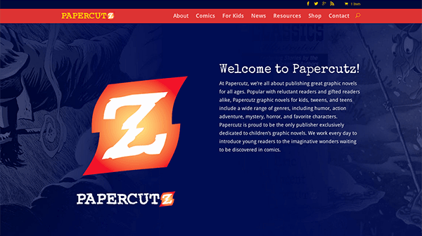 Papercutz 2.0 – Check Out Our New Website Design!